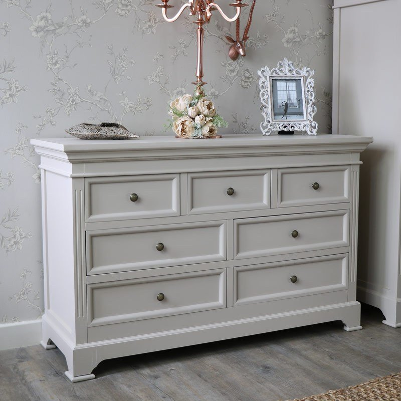 Best 6 Drawer Chest Of Drawers Daventry Grey Melody Maison® With Pictures