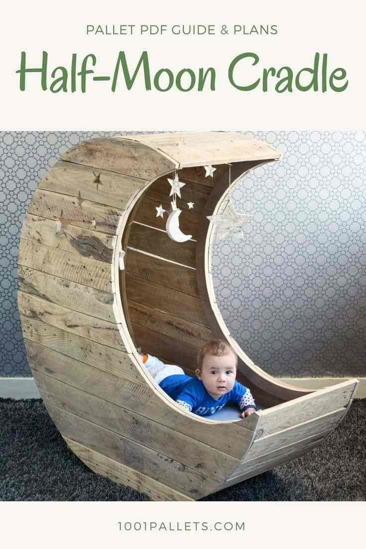 Best Diy Pdf Pallet Half Moon Cradle • 1001 Pallets • Free Download With Pictures