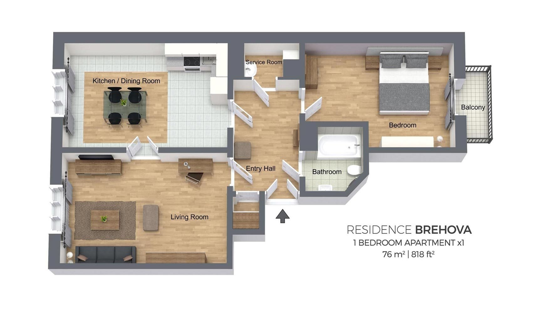 Best One Bedroom Apartment Residence Brehova With Pictures