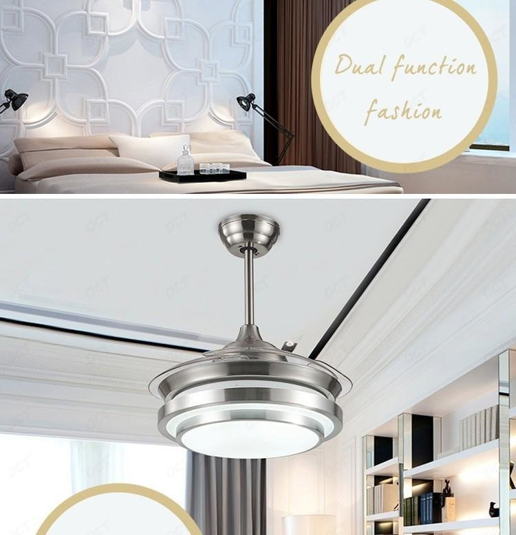 Best Living Bedroom Acrylic Blade Fan Lamps Modern Luxury Quiet With Pictures