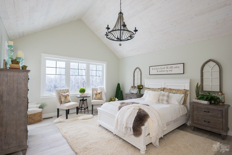 Best Rustic Traditional Lake House Master Bedroom Reveal – One Room Challenge The Diy Mommy With Pictures