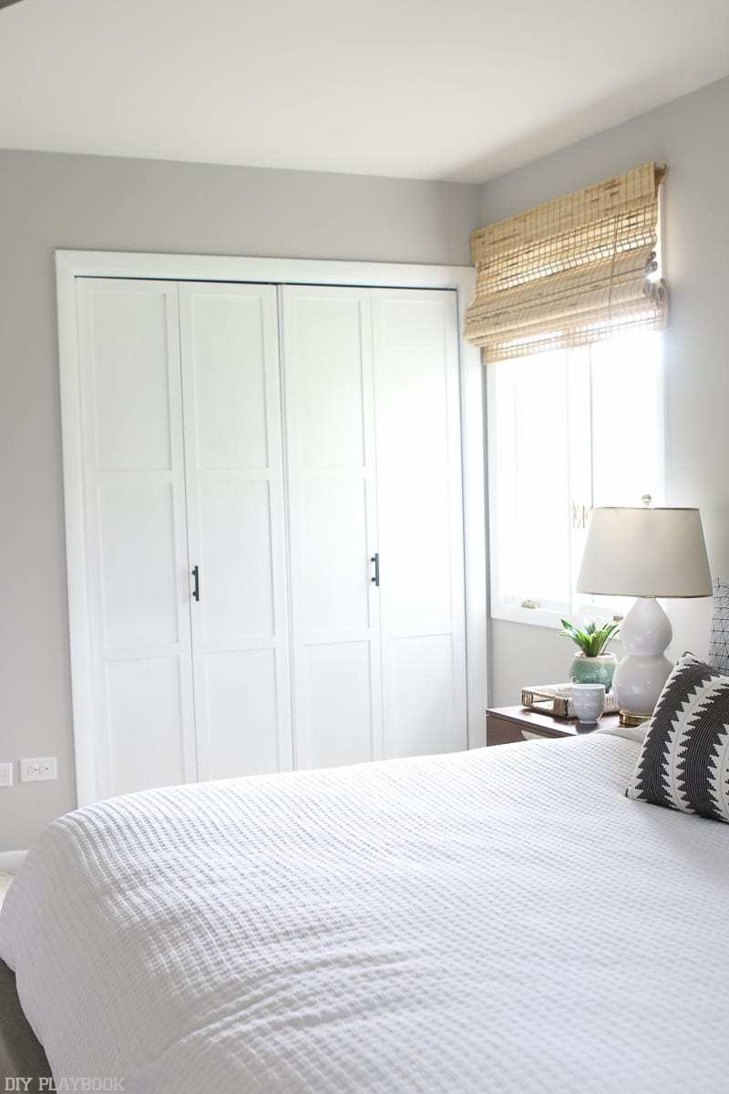 Best Lowes Makeover Bedroom Reveal Closet Doors Window Diy Playbook With Pictures
