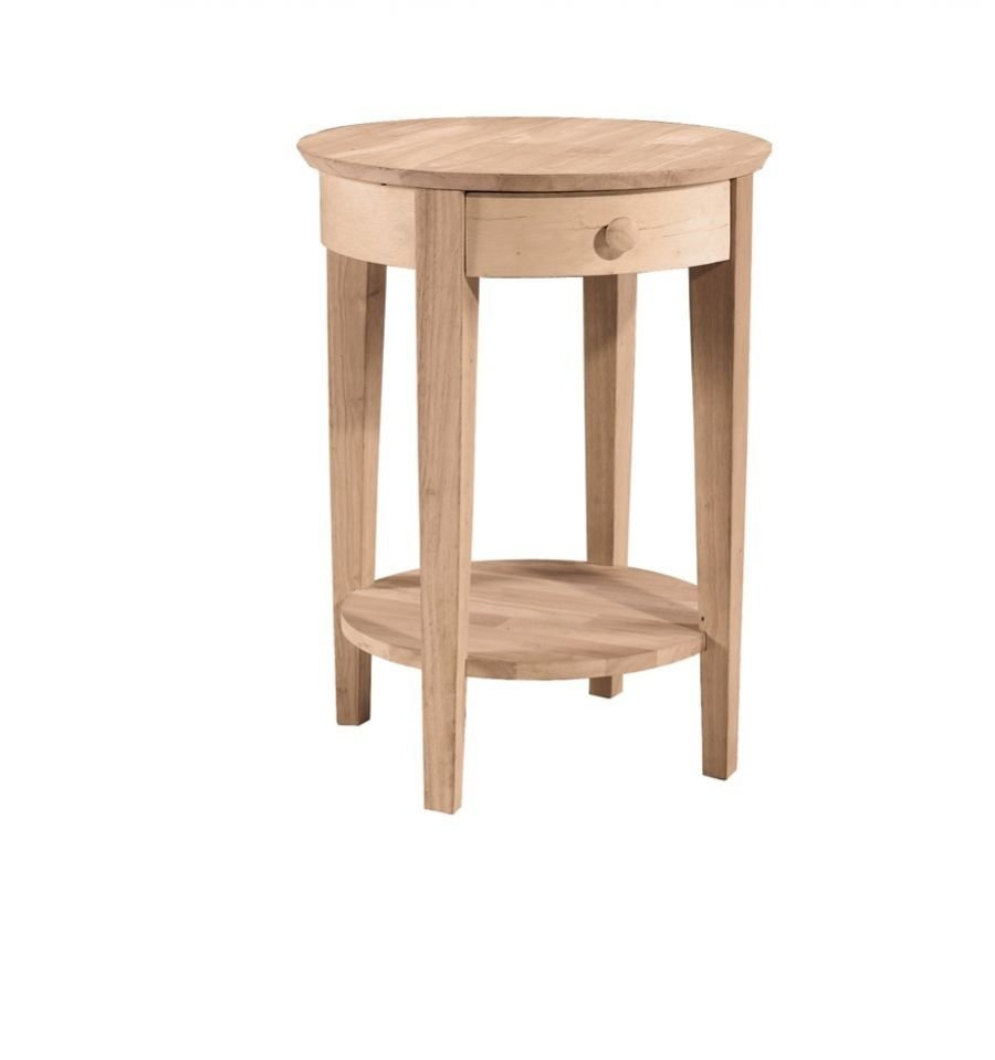 Best 21 Inch Phillips Round Bedside Table Wood You Furniture Anderson Sc With Pictures