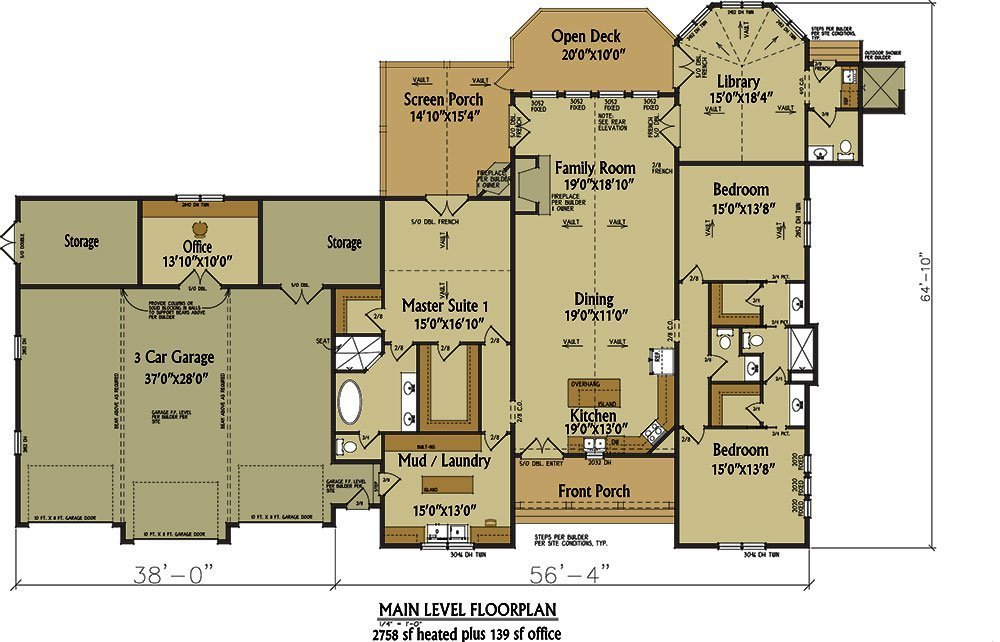 Best One Story Rustic House Plan Design Alpine Lodge With Pictures