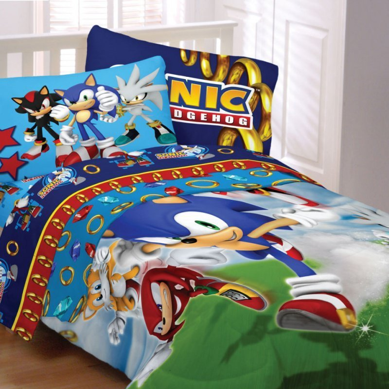 Best Sonic Bedding Sega Sonic Speed Kids Bedding With Pictures