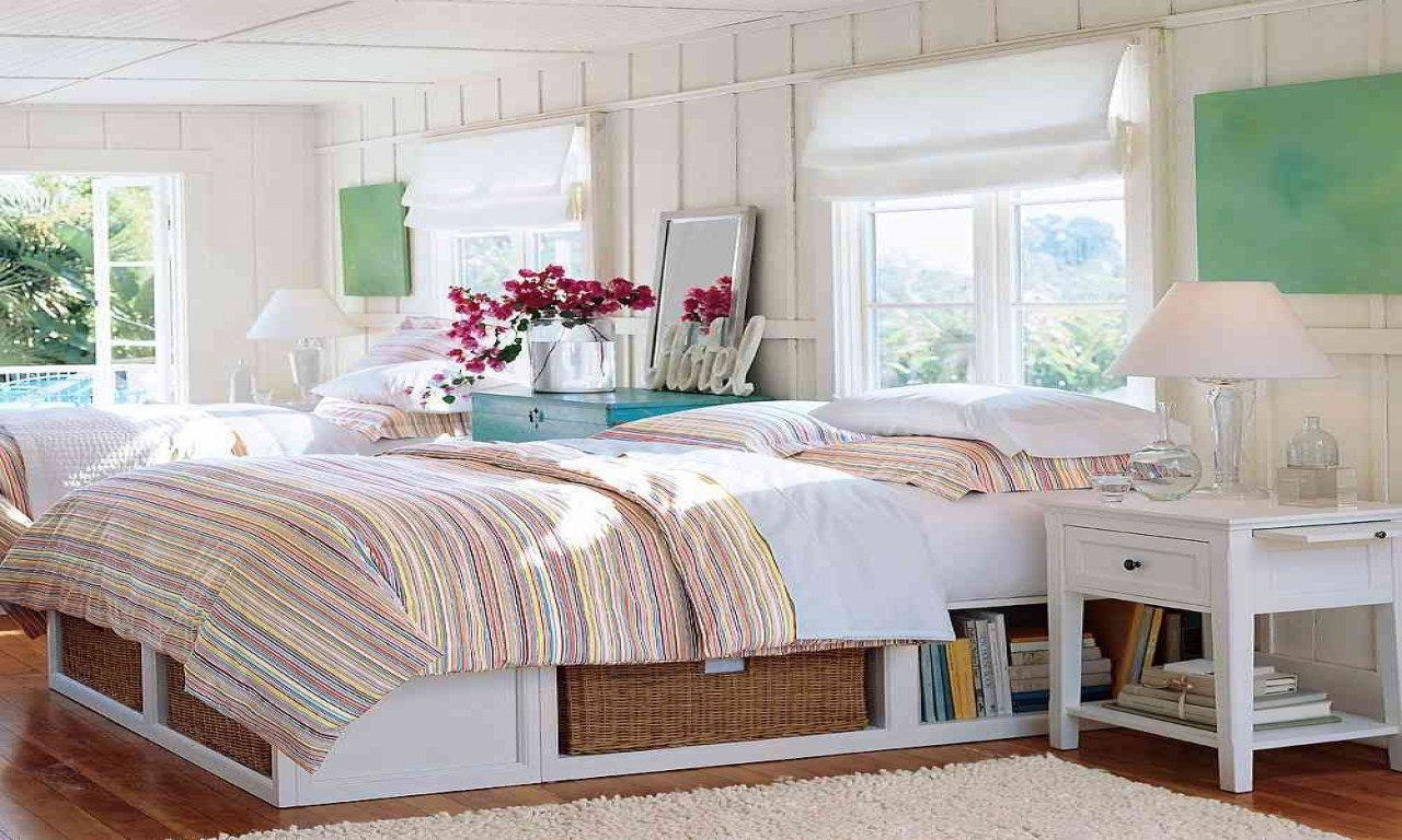 Best Bookcase Style Headboards White Cottage Style Bedroom With Pictures