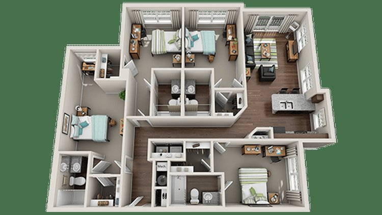 Best Floor Plans 111 South Apartments Statesboro Ga With Pictures