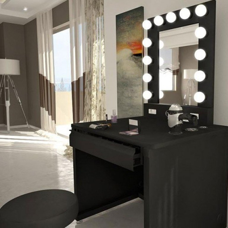 Best Lighted Makeup Vanity Table Mirror Bedroom And Living Room With Pictures