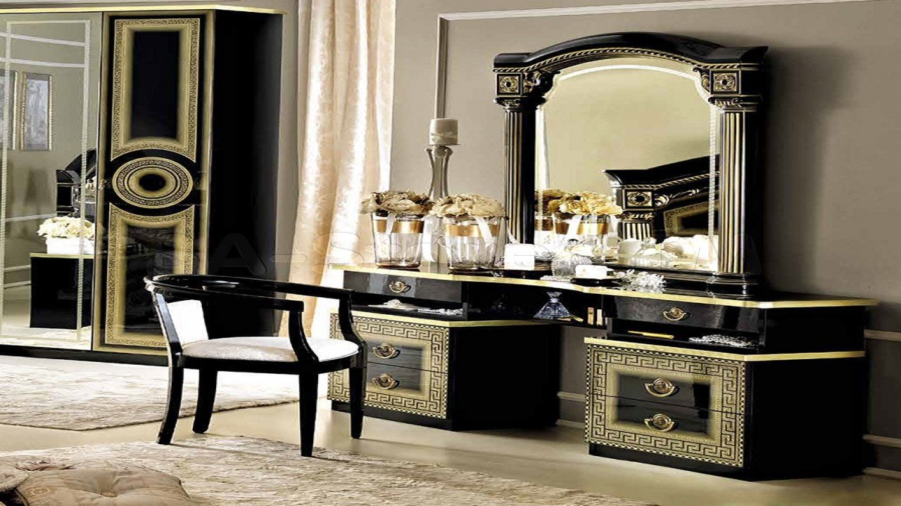 Best Black Vanity With Mirror Vanity With Gold And Black With Pictures