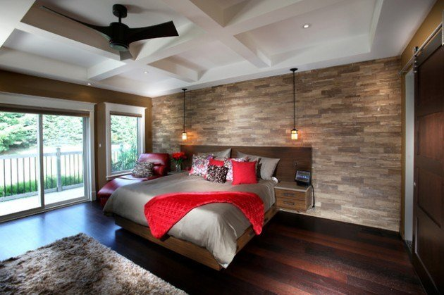 Best 19 Elegant Stone Wall Bedroom Design Ideas With Pictures