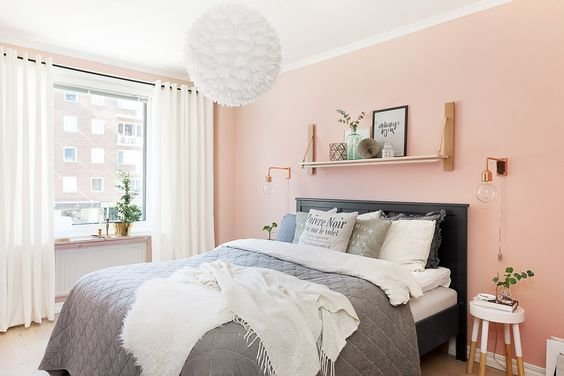 Best 19 Magnificent Bedrooms Designs With Peach Walls With Pictures