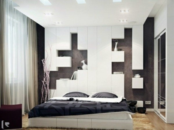 Best Bedroom Wall Design – Wall Decoration Behind The Bed With Pictures
