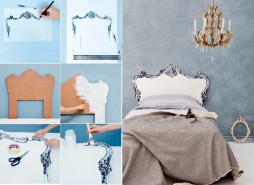 Best Creative Decorating Ideas In The Bedroom – Chic Headboard With Pictures