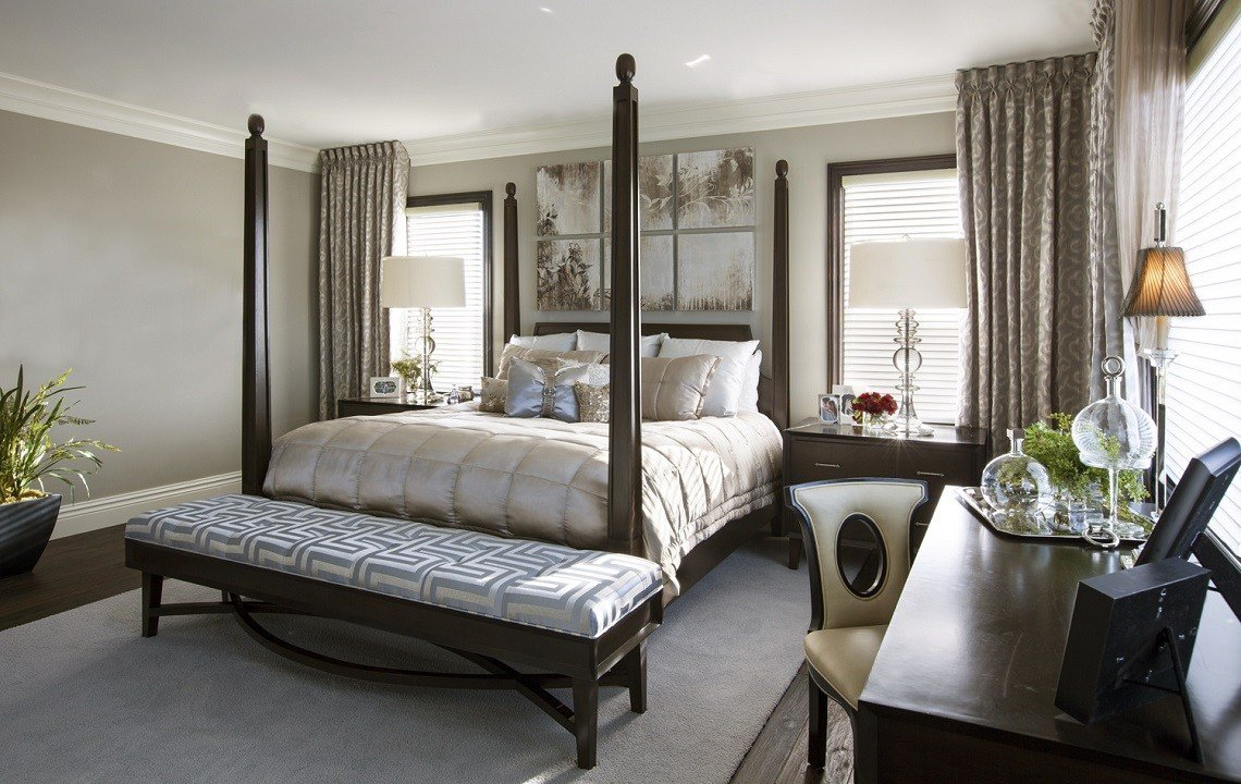 Best Hamptons Inspired Luxury Home Master Bedroom Robeson Design With Pictures