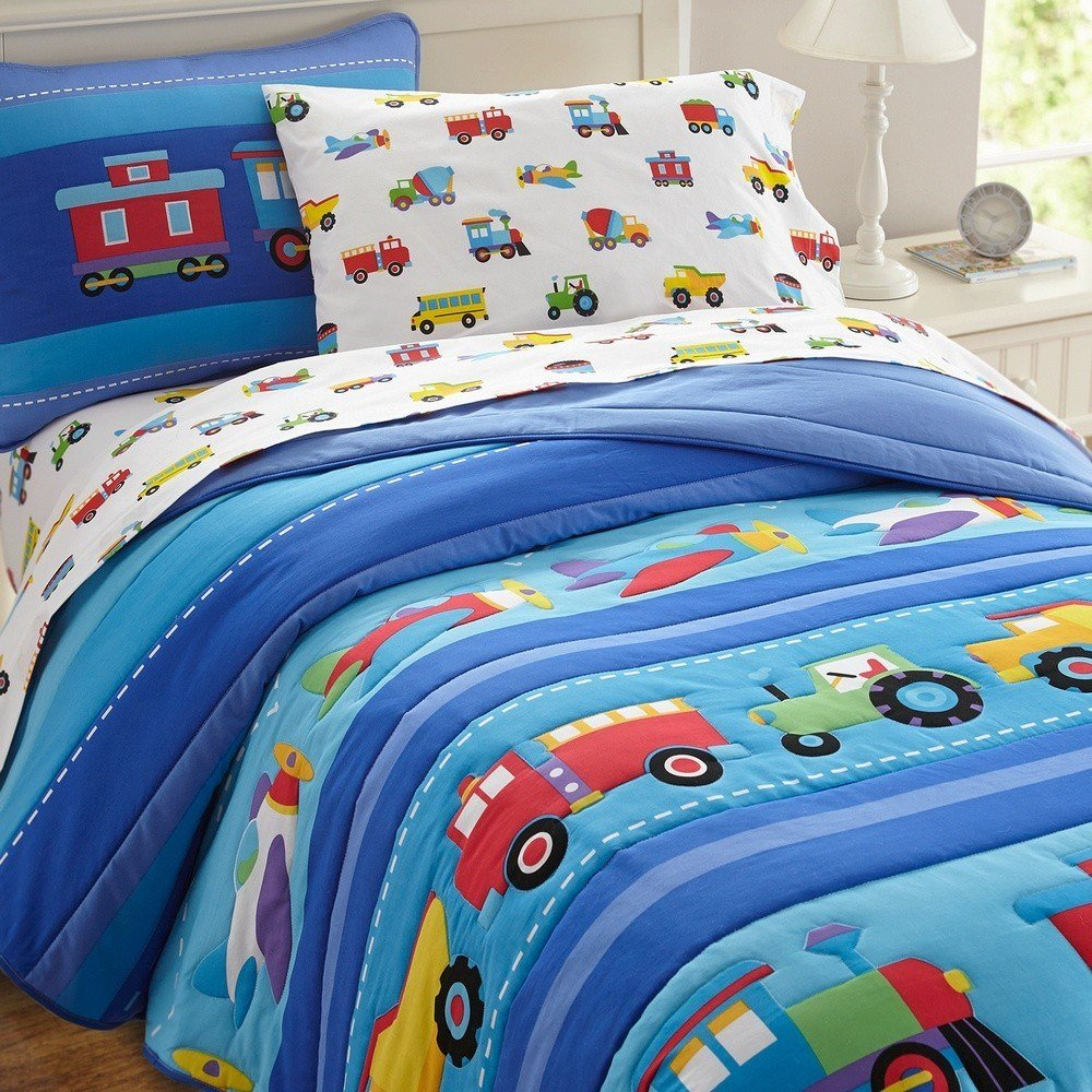 Best Olive Kids Trains Planes Trucks Toddler Comforter With Pictures
