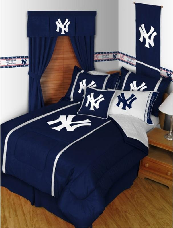 Best New York Yankees Mlb Sidelines Comforter By Sports With Pictures