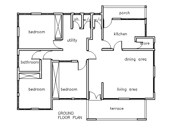 Best House Plans Ghana 3 Bedroom House Plan Ghana House With Pictures