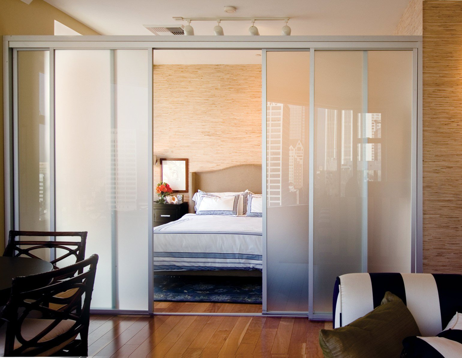 Best Sliding Glass Room Dividers Bedroom With Pictures