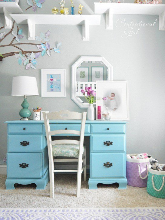 Best Lavender Blue Girl's Room Centsational Girl With Pictures