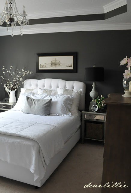 Best Dear Lillie Master Bedroom Perfect Combination Black Gray And White Well It Looks Like With Pictures