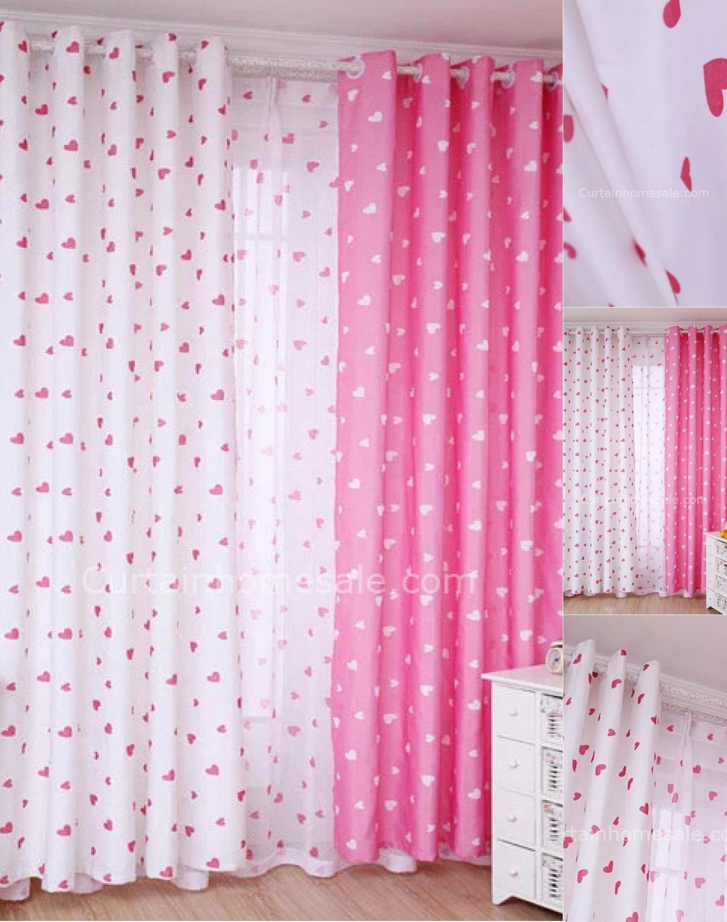 Best Pink And White Kids Bedroom Curtains Free Shipping With Pictures