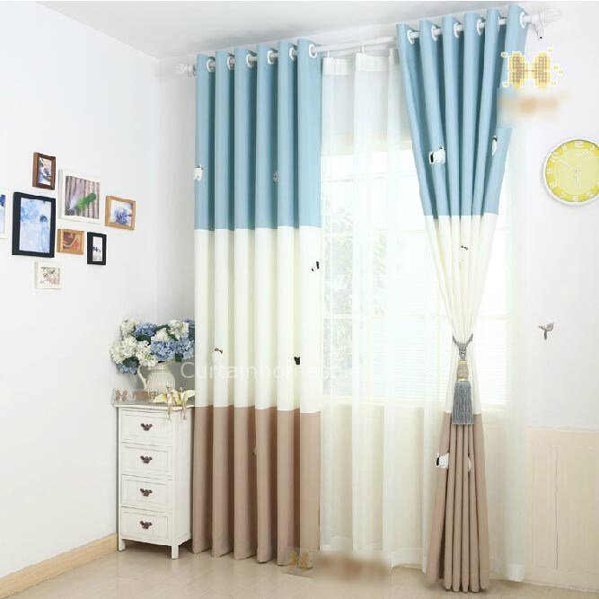 Best Blue Dog Pattern Sweet Baby Boy Nursery Curtains With Pictures