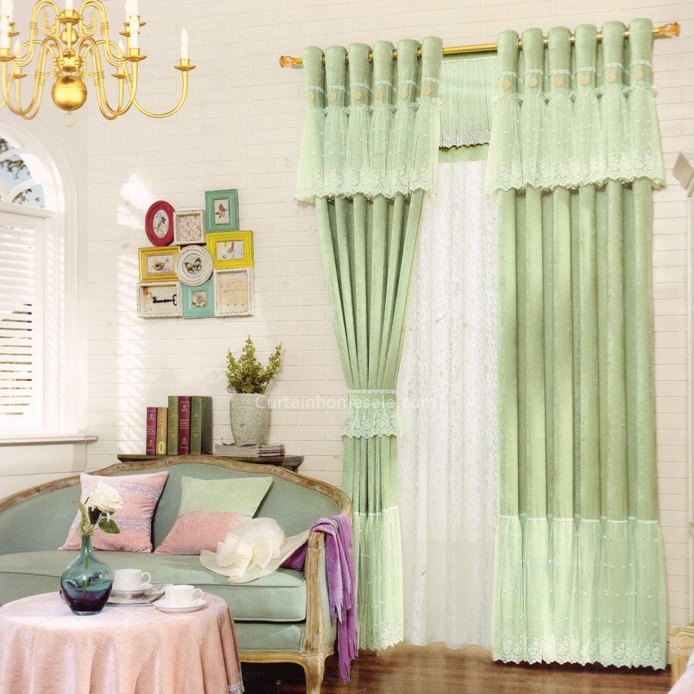 Best Green Bedroom Curtain Romantic Lace Decoration 2016 New With Pictures