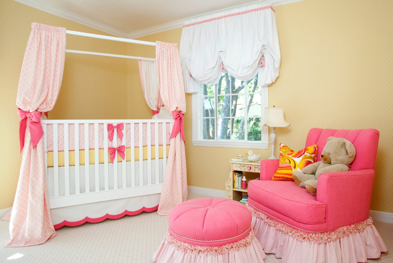 Best Sweet Pink Yellow Baby Girl Nursery By House Of Ruby Simplified Bee With Pictures