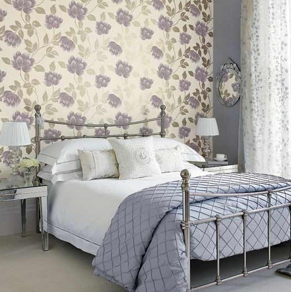 Best Bedroom With Wallpaper Purple Bedroom Wallpaper Ideas With Pictures