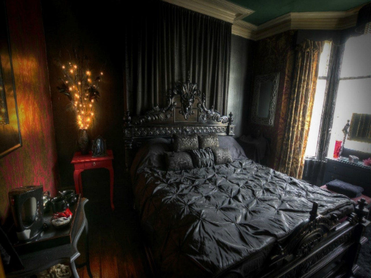 Best Dark Bedrooms Victorian Gothic Interior Design Bedroom With Pictures