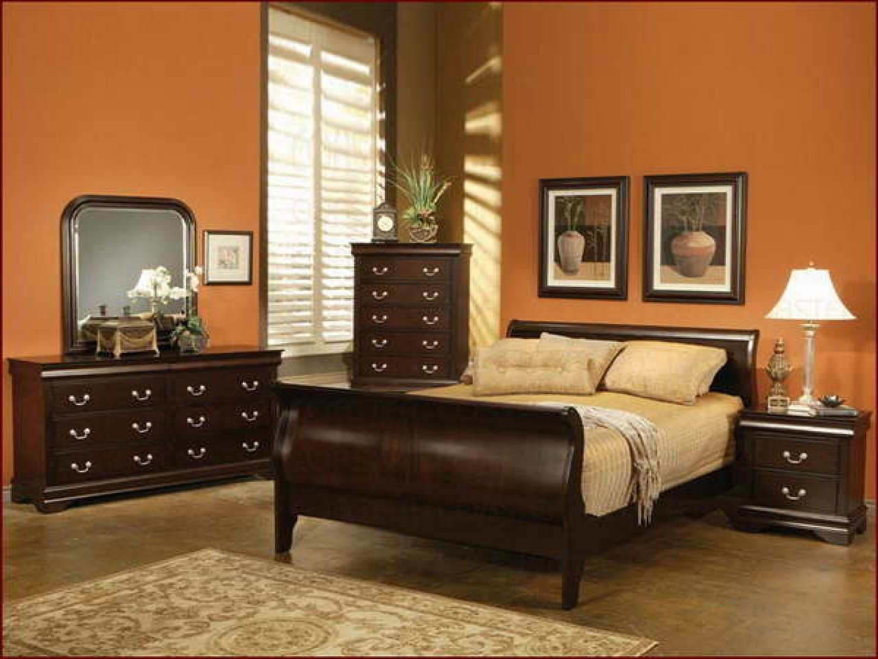 Best Beautiful Wall Colors For Bedrooms Best Paint Color Burnt Orange Orange Paint Colors For With Pictures