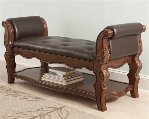Best Upholstered Bed End Bench Traditional Style Furniture With Pictures