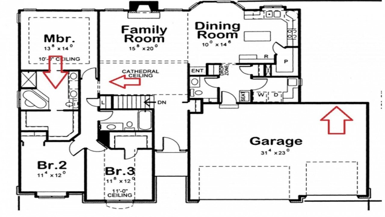 Best Residential House Plans 4 Bedrooms 4 Bedroom 3 Bath House With Pictures