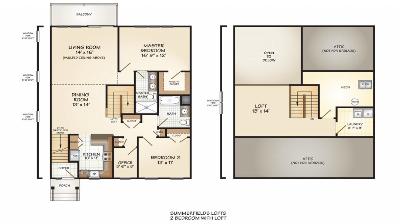 Best 2 Bedroom Floor Plan With Loft 2 Bedroom House Simple Plan With Pictures