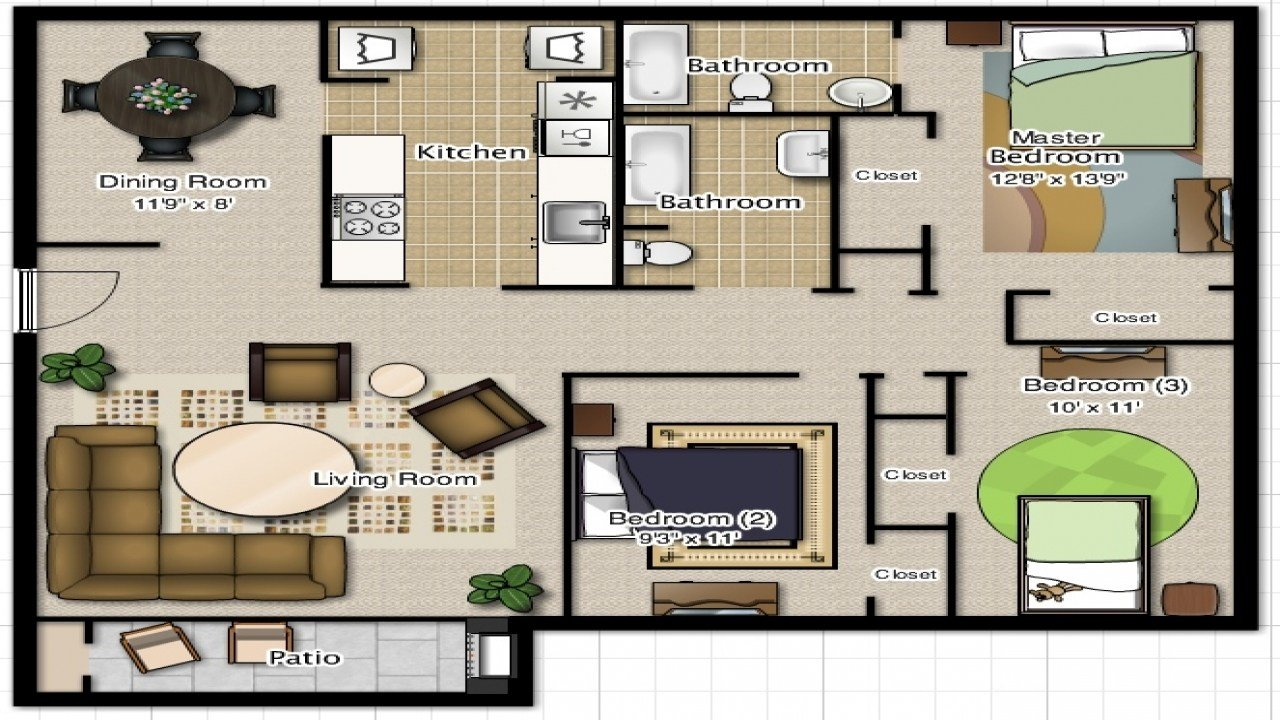 Best 3 Bedroom 2 Bathroom House Plans 3 Bedroom 2 Bathroom With Pictures
