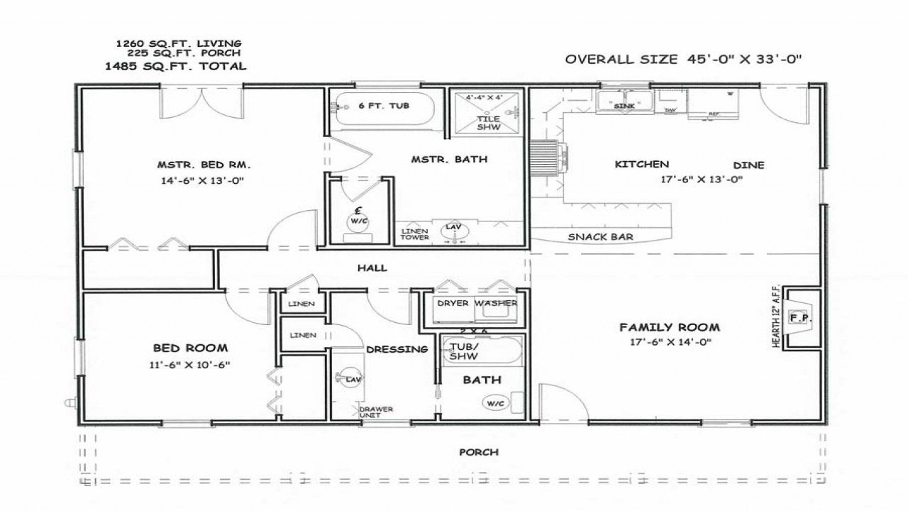 Best Master Bedroom And Bath Floor Plans Two Bedroom 2 Bath With Pictures