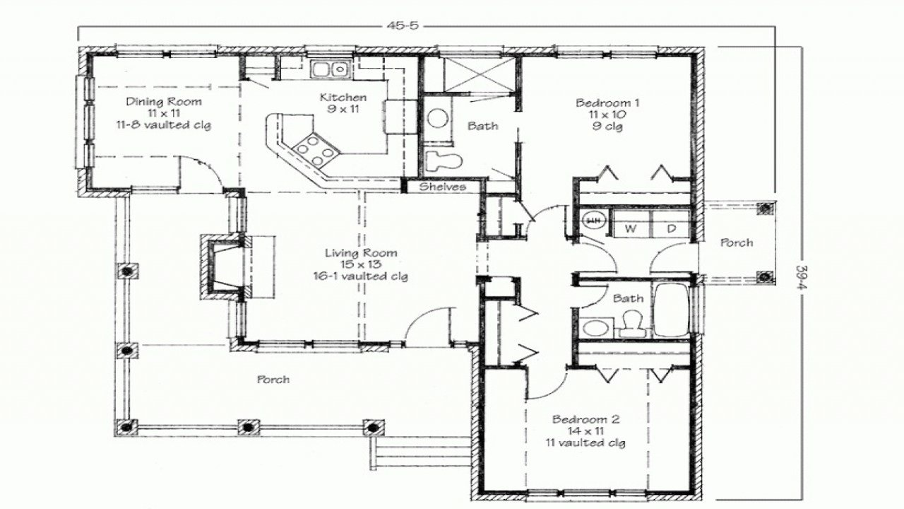 Best 2 Bedroom House Simple Plan Two Bedroom House Simple Floor With Pictures