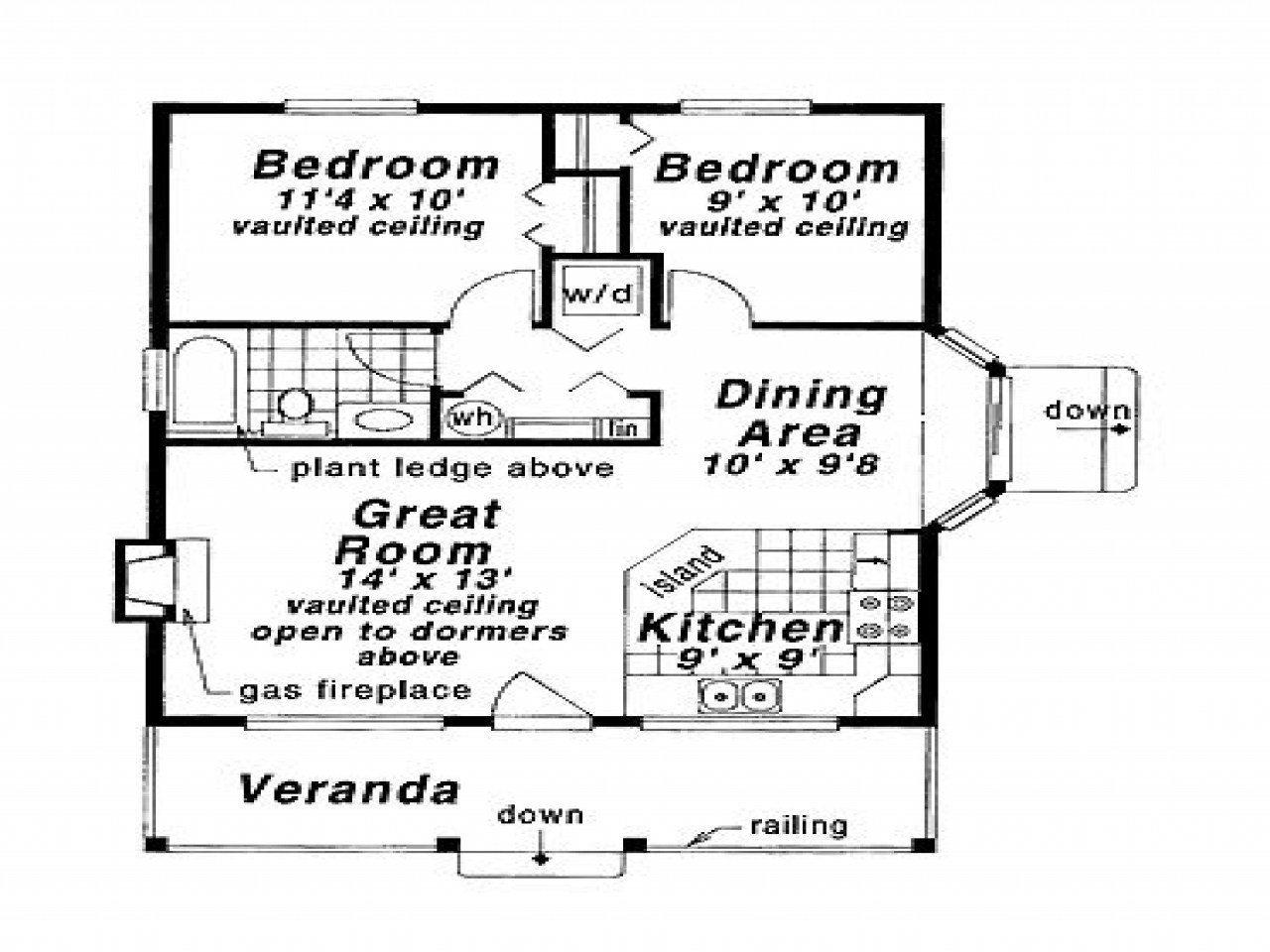 Best 2 Story Master Bedroom 1 Bedroom 2 Story Guest House Plans With Pictures