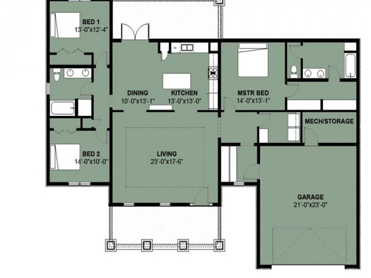 Best Simple 3 Bedroom House Floor Plans Simple 3 Bedroom 2 Bath With Pictures