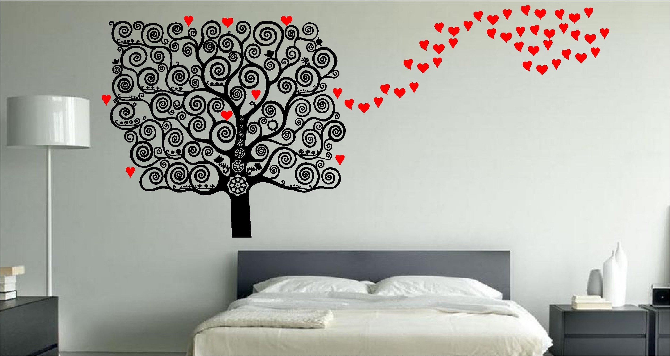 Best Stunning Love Heart Tree Wall Art Sticker Decal Bedroom Kitchen Lounge Ebay With Pictures
