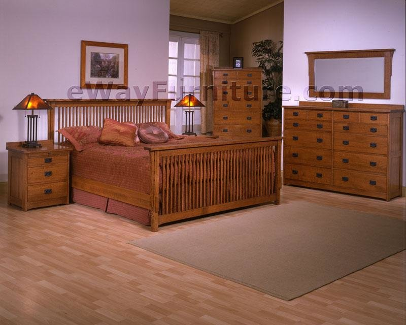 Best Mission Queen Bed Bedroom Set Solid Rift Quarter Sawn With Pictures