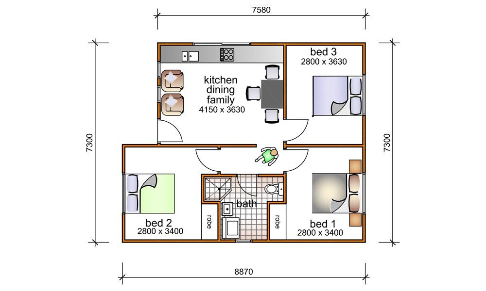 Best 3 Bedroom Granny Flat Designs 3 Bedroom Granny Flat With Pictures