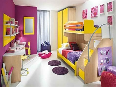 Best Bedroom Purple Kids Rooms Ideas With Yellow Blends With Pictures