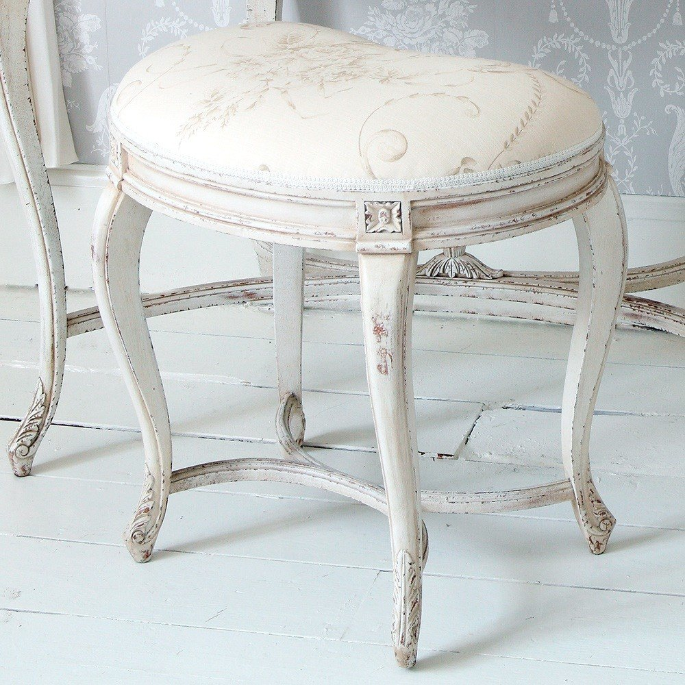 Best Delphine Painted White Bedroom Stool French Bedroom Company With Pictures