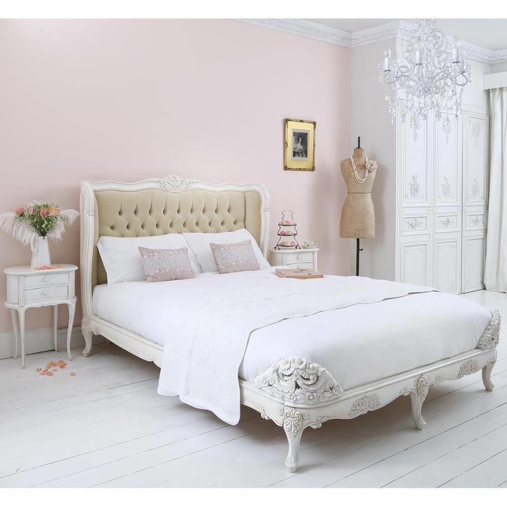Best New Provencal Velvet Upholstered Bed French Beds Beds With Pictures