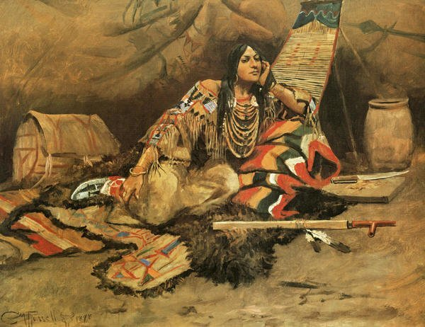 Best Charles M Russell Keeoma Art Print Global Gallery With Pictures
