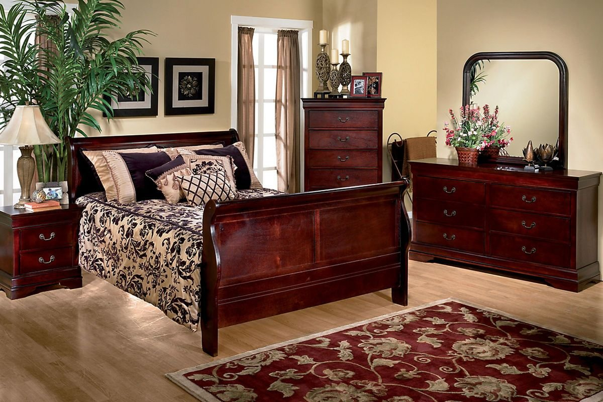 Best Louis 5 Piece Queen Bedroom Set At Gardner White With Pictures
