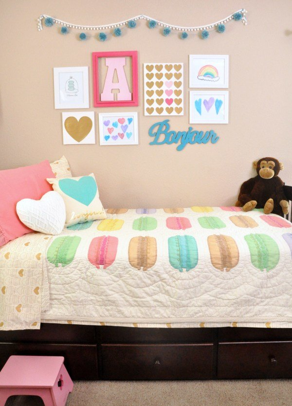 Best Pink Teal Macaron Heart Themed Girls Room Ideas With Pictures