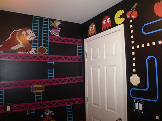 Best A Mario Donkey Kong And Pac Man Themed Bathroom Geekologie With Pictures