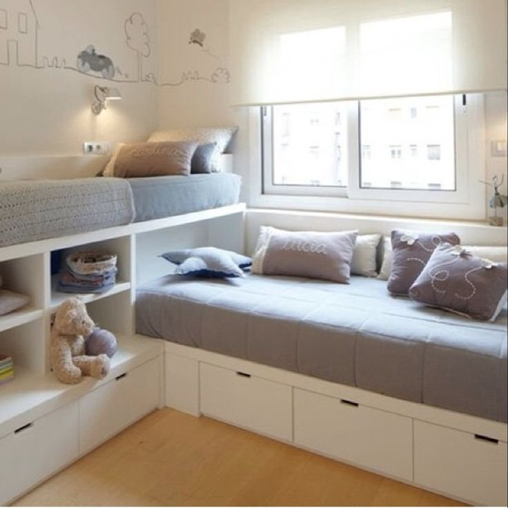 Best 55 Small Double Bed For Kids Kids Double Bed With Drawers With Pictures